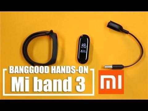 Original Xiaomi Mi band 3 Smart Wristband OLED Display 50M Waterproof Heart  Rate Monitor Bracelet