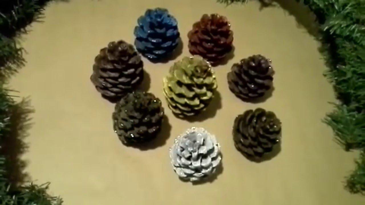 Como pintar pi as de pino facil para navidad pinecones - Pinas de pino para decorar ...