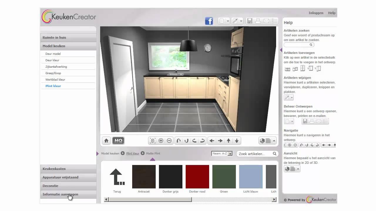 Keukencreator youtube for 3d keuken tekenprogramma
