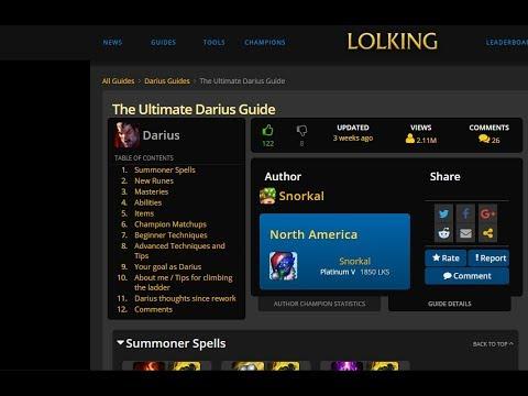 The Ultimate Darius Guide By Snorkal - Trailer