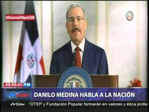 Danilo Medina habla a la nación
