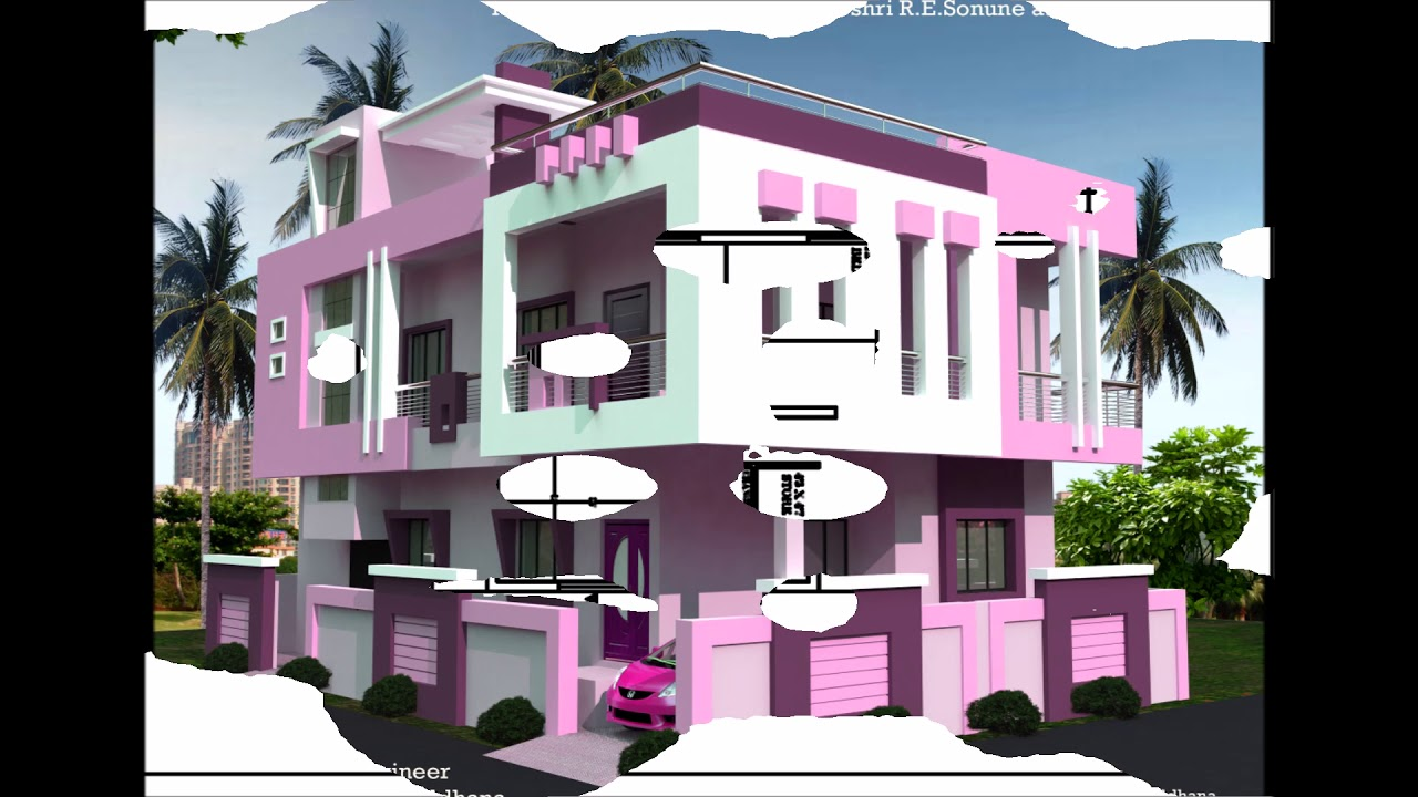 Double Floor House Plan With 3d Images Youtube