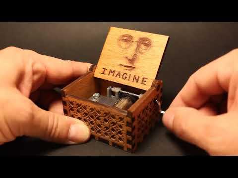 John Lennon - Engraved Wooden Music Box by buzz79