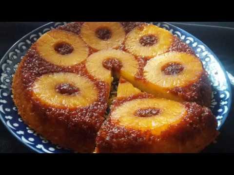 gâteau-renversé-à-l'ananas