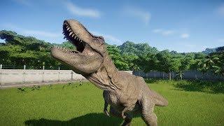 T-Rex VS All Carnivores (New Dinosaur) Update 1.6.2 - Jurassic World Evolution