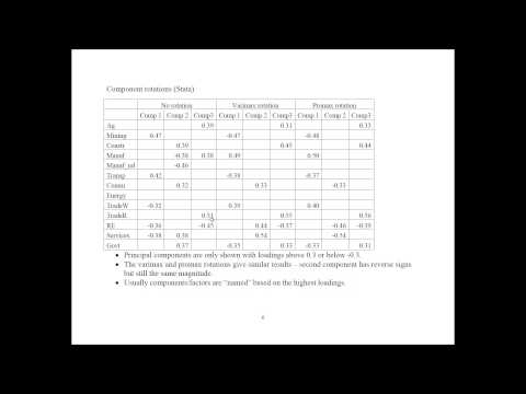Principal Component Analysis and Factor Analysis Example