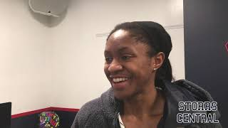 UConn Women's Basketball NCAA Tournament Second Round Postgame - Crystal Dangerfield