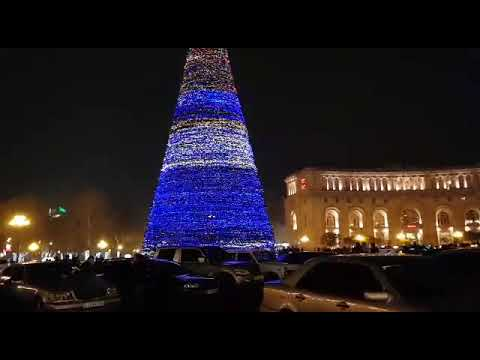 Предновогодний Ереван! Центральная ёлка. 25 декабря 2018 год. Yerevan Mall, Rio Mall
