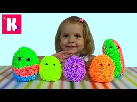 Животные заводные сюрприз из шарикового пластилина