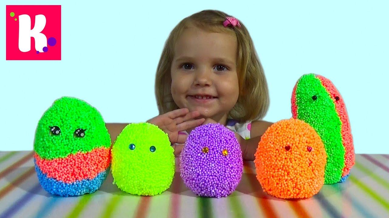 Животные заводные сюрприз из шарикового пластилина игрушки animals toys in magic surprise eggs