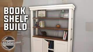 White Bookshelf Build with Walnut | Woodworking