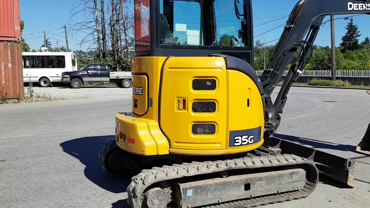 2015 John Deere 35G Mini Excavator For Sale