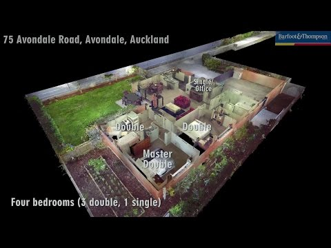 3D laser scan of house for sale in Avondale, Auckland