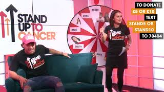 Love Island's Kem Cetinay and Amber Davies freestyle about fajitas | Stand Up To Cancer