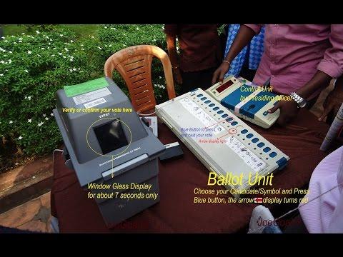 VVPAT Voting demostration. Goa votes on 4 Feb 2017