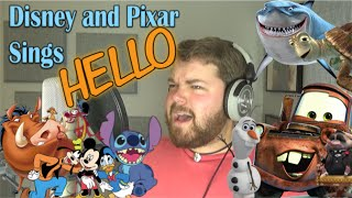 Disney and Pixar Sings Hello