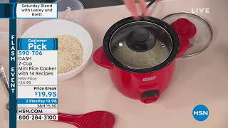 DASH 2Cup Mini Rice Cooker with 14 Recipes