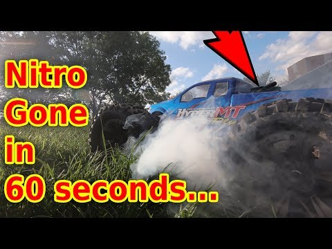 Wrecked My Giant Nitro RC Car In Seconds :(