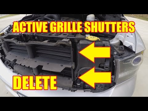 How To Remove The Active Grille Shutters From A Ram 1500