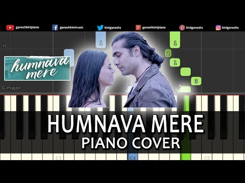 Humnava Mere Song Jubin Nautiyal | Piano Cover Chords Instrumental By Ganesh Kini
