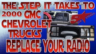 The steps it take to replace your radio, Chevy Silverado or Tahoe GMC Sierra or Yukon