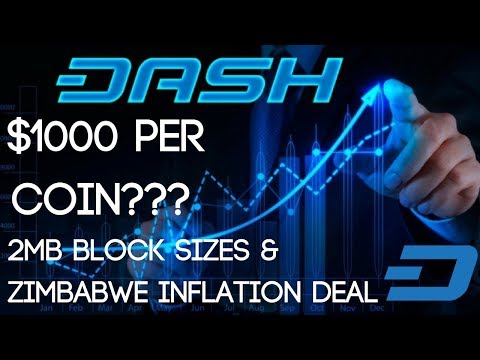 DASH Digital Cash | The Road To $1000 (2MB Block Sizes & Zimbabwe Deal)