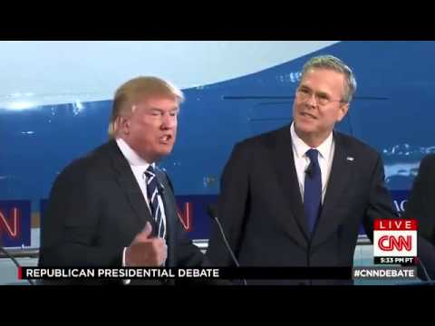 Presidential Election 2016: Donald Trump vs Jeb Bush