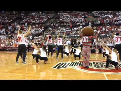 Ohio State football players dance