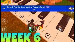 Piano Sheets And Piano Tiles Location | Season 6 Week 6 Challenges| Fortnite Battle Royale