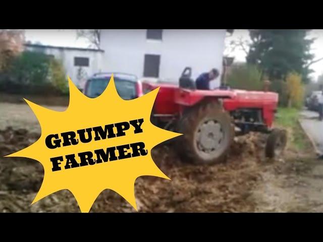 Svi su išli preko njegove njive, a onda je on sjeo u traktor i počeo da ore…