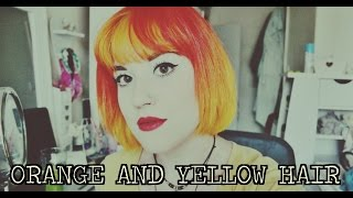 ORANGE & YELLOW HAIR: Bleach London & Crazy Colour