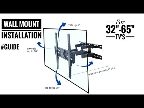 Wall Mount installation guide for 32, 43, 49, 55 &65 inches