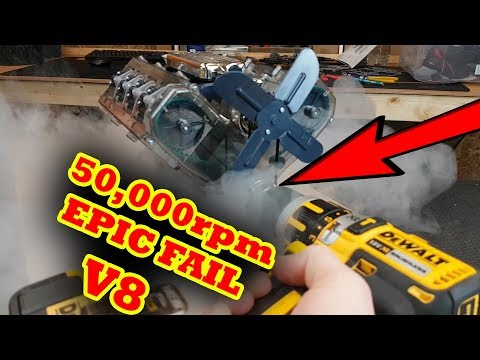 50,000rpm VS Haynes V8 Model Engine Catastrophic Failure - SMOKE