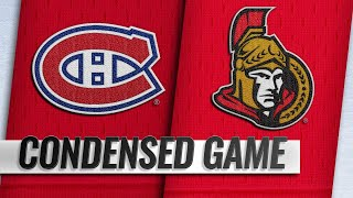 10/20/18 Condensed Game: Canadiens @ Senators