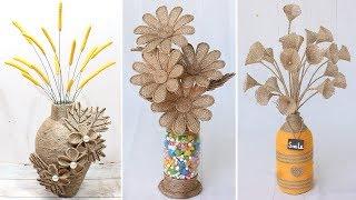 Download lagu 6 Beautiful flower vase decoration ideas with jute rope Home Decor