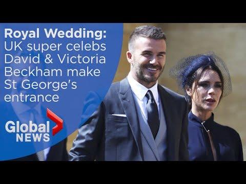 Royal Wedding: David and Victoria Beckham arrive for Royal Wedding