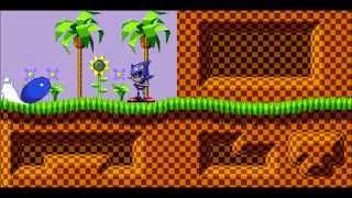 Sonic sprite animation test 1 - Spindash/Explosion