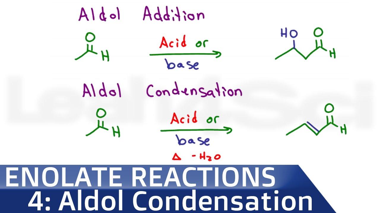 Aldol Addition And Condensation Reaction Mechanism In Acid Or Base