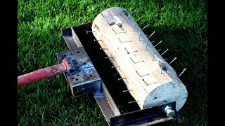 DIY   How To Make A Lawn Roller Aerator