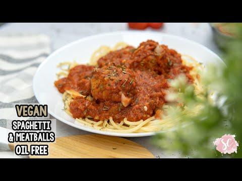 Vegan Spaghetti & Meatballs – Oil free & GF