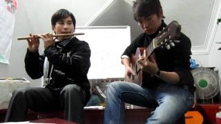 Tình ca du mục - dân ca Nga - sáo trúc Cao Trí Minh - guitar Phan Anh.MOV