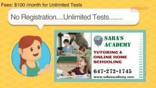 LEARN & EARN BY ONLINE TESTS - Grade 1-8 - by Saba's Academy