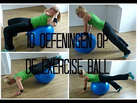 10 Oefeningen op de Exercise ball - beginners
