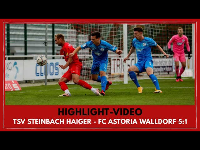 TSV Steinbach Haiger - FC Astoria Walldorf 5:1 (Regionalliga Südwest I #TSVFCA)