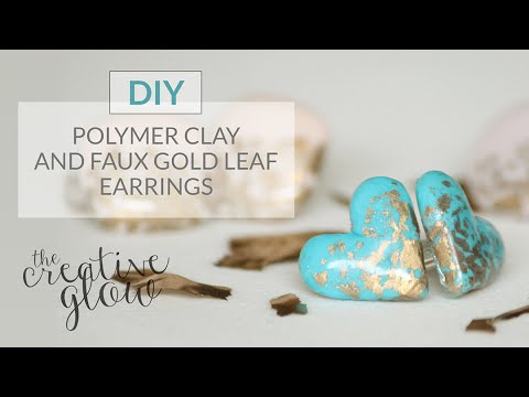 DIY Fimo & Faux Gold Leaf Earrings (Polymer Clay)