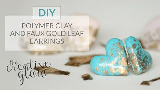 DIY Fimo & Faux Gold Leaf Earrings - So Pretty