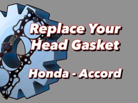 blown head gasket replacement honda accord   youtube