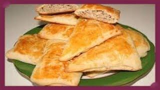 Пирожки из слоеного теста бездрожжевого с мясом!