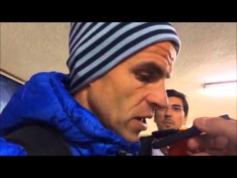 Duda habla en la zona mixta del Sánchez Pizjuán (Sevilla-Málaga 2-0)