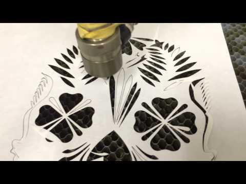 Freezer paper cutting test with cnc laser cutter